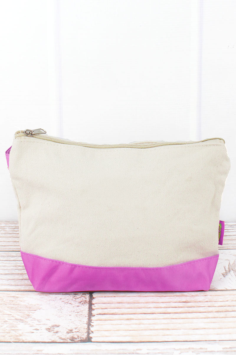 SALE! NGIL Canvas Cosmetic Bag with Pink Trim