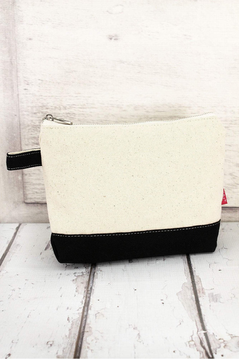 NGIL Canvas Cosmetic Bag with Black Trim