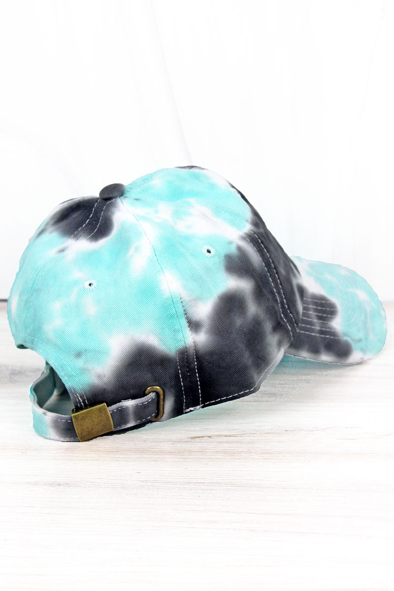 Black and Mint Tie Dye Cap