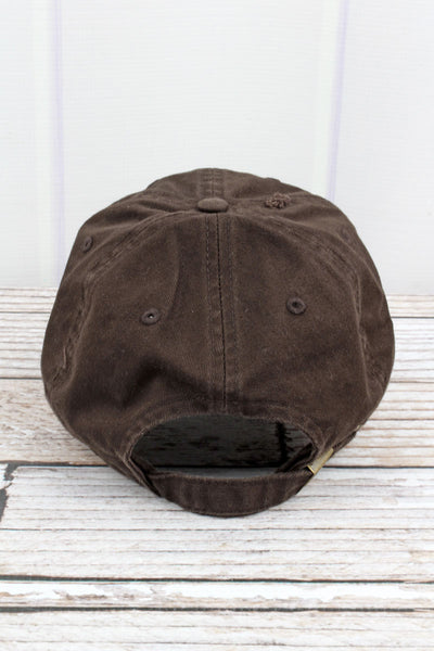 Distressed Brown Subdued Flag Tactical Operator Cap