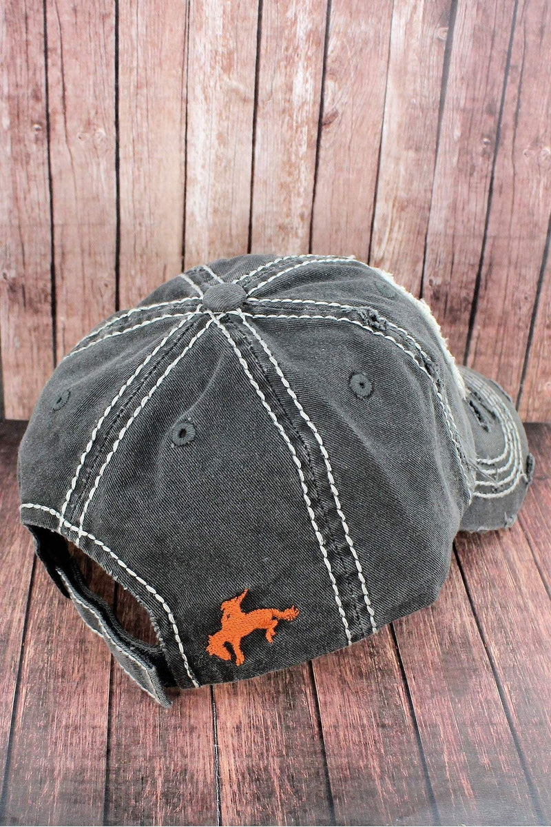 Distressed Black 'This Ain't My First Rodeo' Cap
