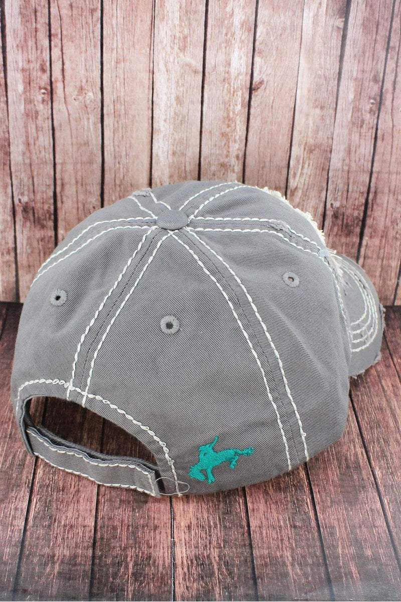Distressed Light Gray 'This Ain't My First Rodeo' Cap