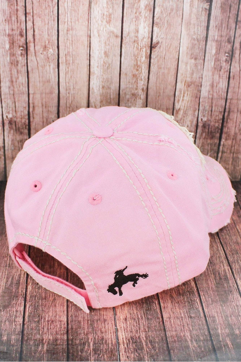 Distressed Pink 'This Ain't My First Rodeo' Cap