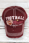 Distressed Burgundy 'Football Mama (May Yell Loudly)' Cap