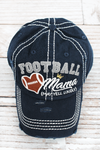 Distressed Navy 'Football Mama (May Yell Loudly)' Cap