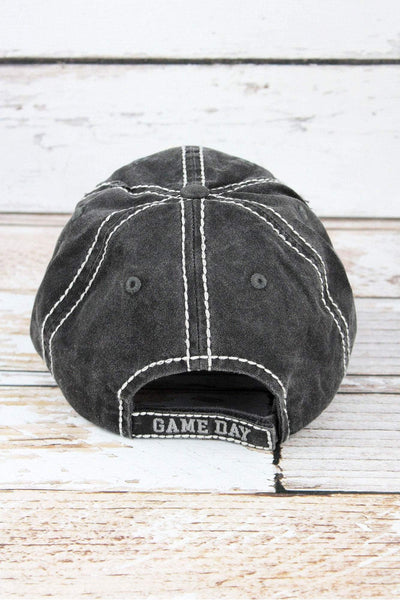 Distressed Black 'It's Game Day Y'all' Cap