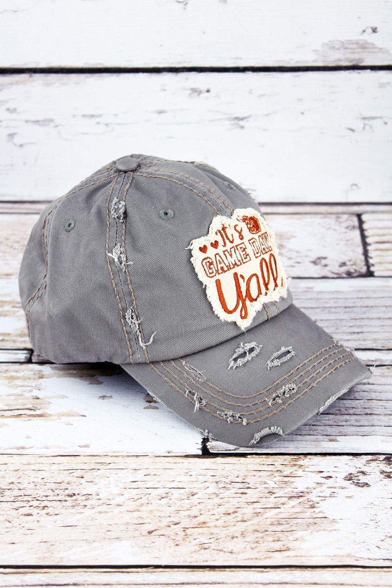 Distressed Steel Gray 'It's Game Day Y'all' Cap