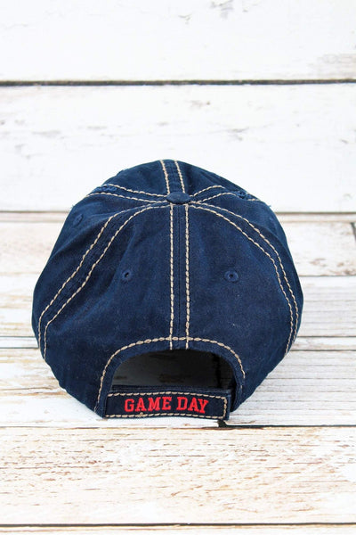 Distressed Navy 'It's Game Day Y'all' Cap