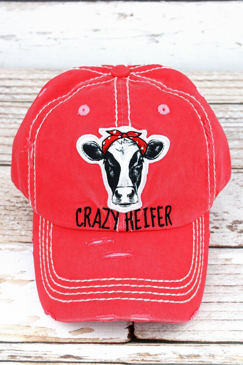 b7889289ea4f23 Distressed Salmon 'Crazy Heifer' Cap | Wholesale Accessory Market