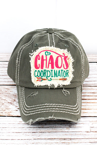 Distressed Steel Gray 'Chaos Coordinator' Cap
