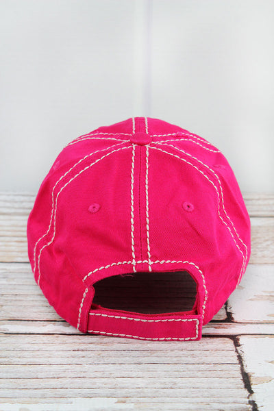 Distressed Hot Pink with Serape 'Mamacita' Cap