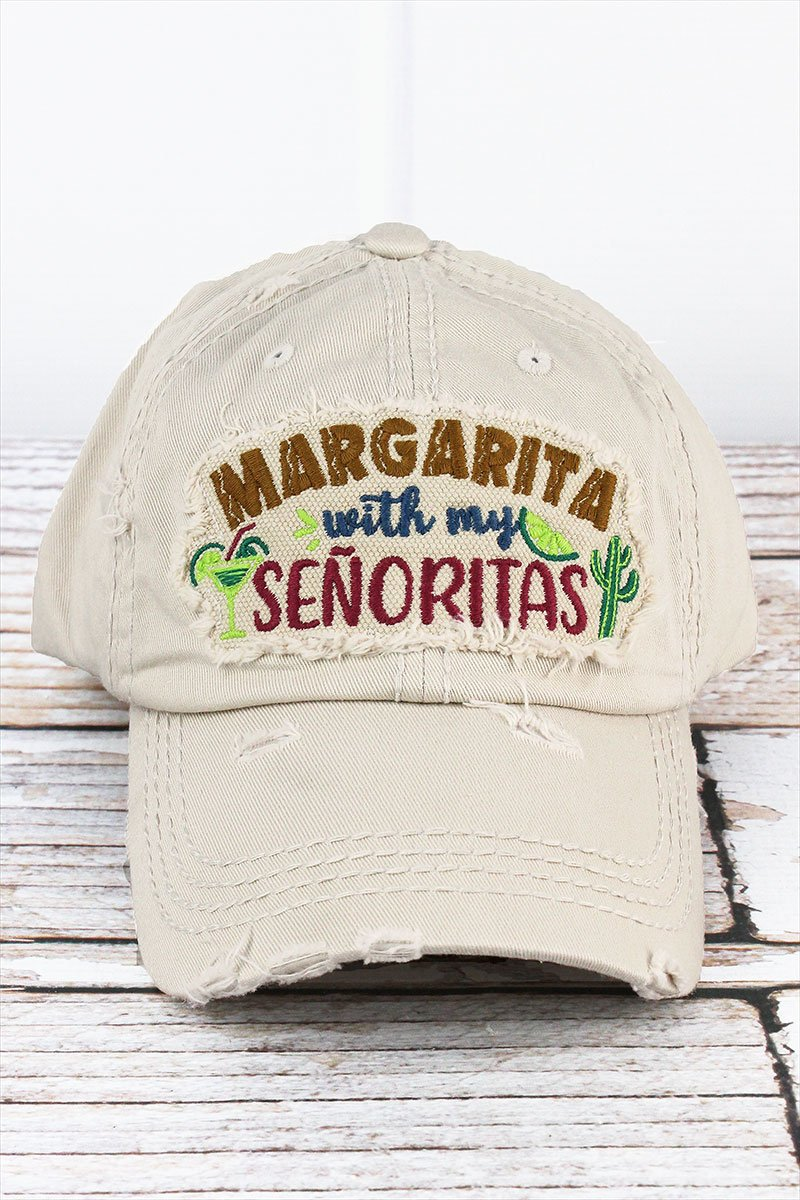 Distressed Stone 'Margarita With My Senoritas' Cap