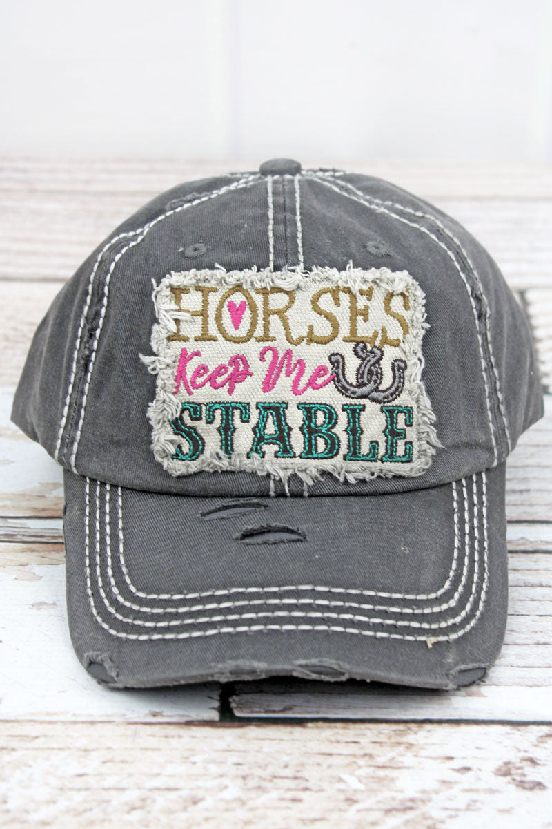 Horse Bold Color Plain Adjustable Cowboy Cap Denim Hat for Women and Men