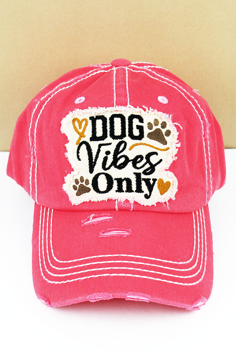 Distressed Salmon 'Dog Vibes Only' Cap