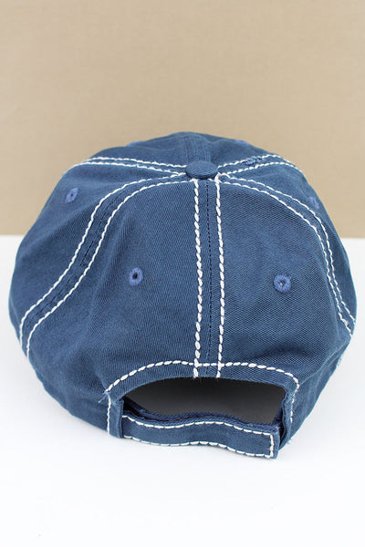 SALE! Distressed Blue 'Mother Hood Life' Cap