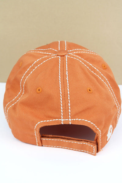 Distressed Pumpkin 'I'm Here For The Boos' Cap