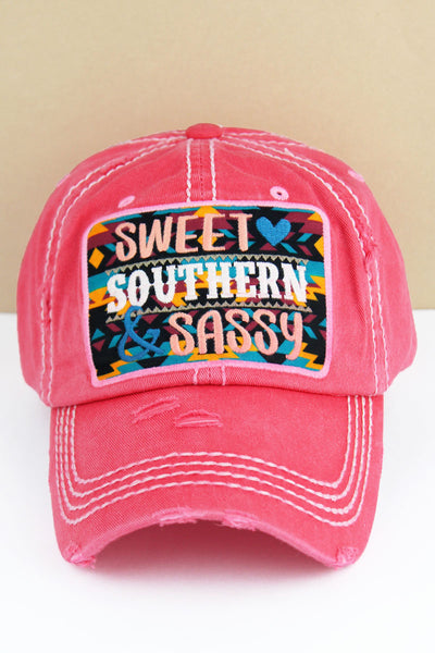 Distressed Salmon 'Sweet Southern & Sassy' Cap