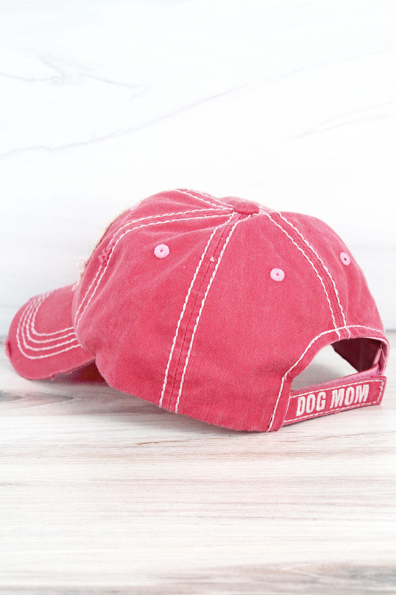 Distressed Salmon 'World's Best Dog Mom' Cap