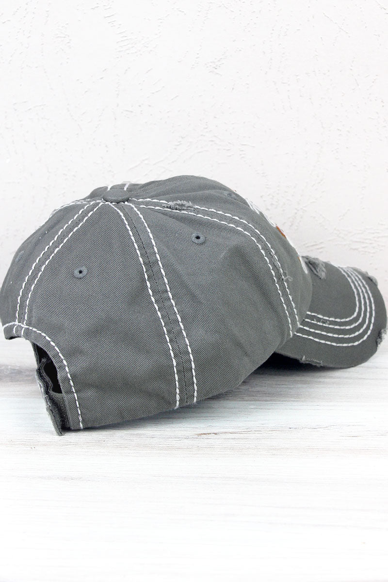 Distressed Steel Gray 'Sweet Land Of Liberty' Cap