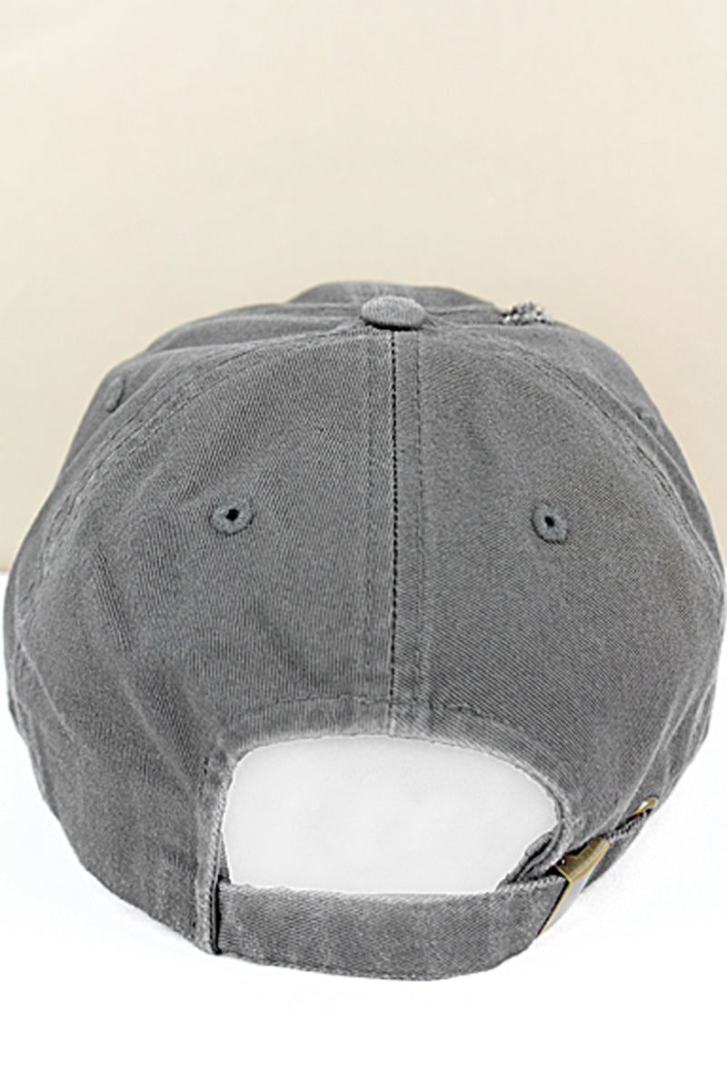 Distressed Dark Gray Subdued Flag Tactical Operator Cap