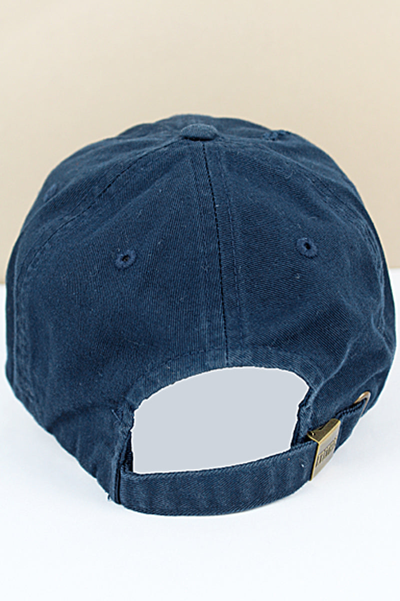 Distressed Navy Subdued Flag Tactical Operator Cap