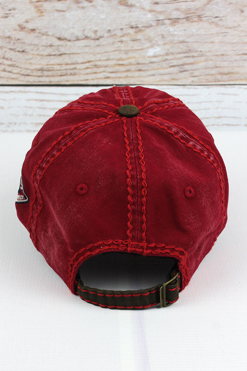 Distressed Red 'Ride' Cap