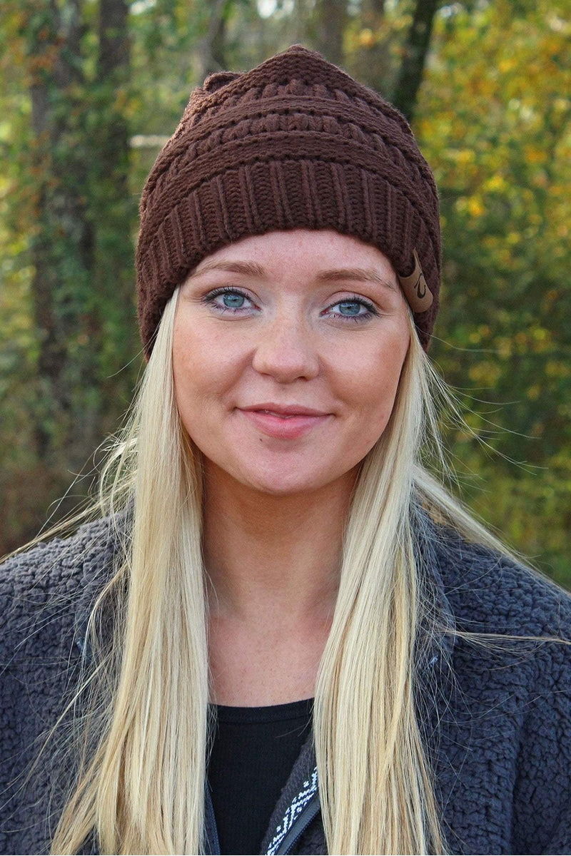 Campfire Cozy Beanie, Brown