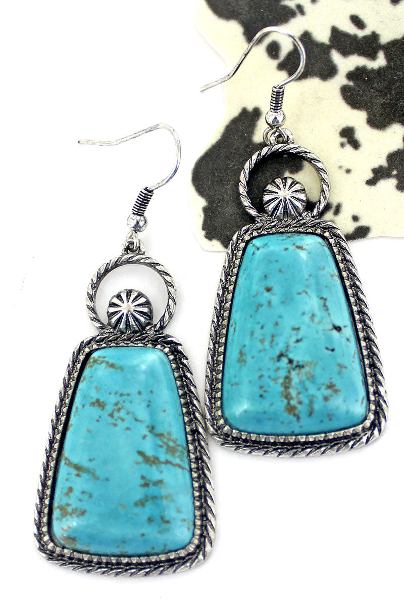 Turquoise Meadow Lake Earrings