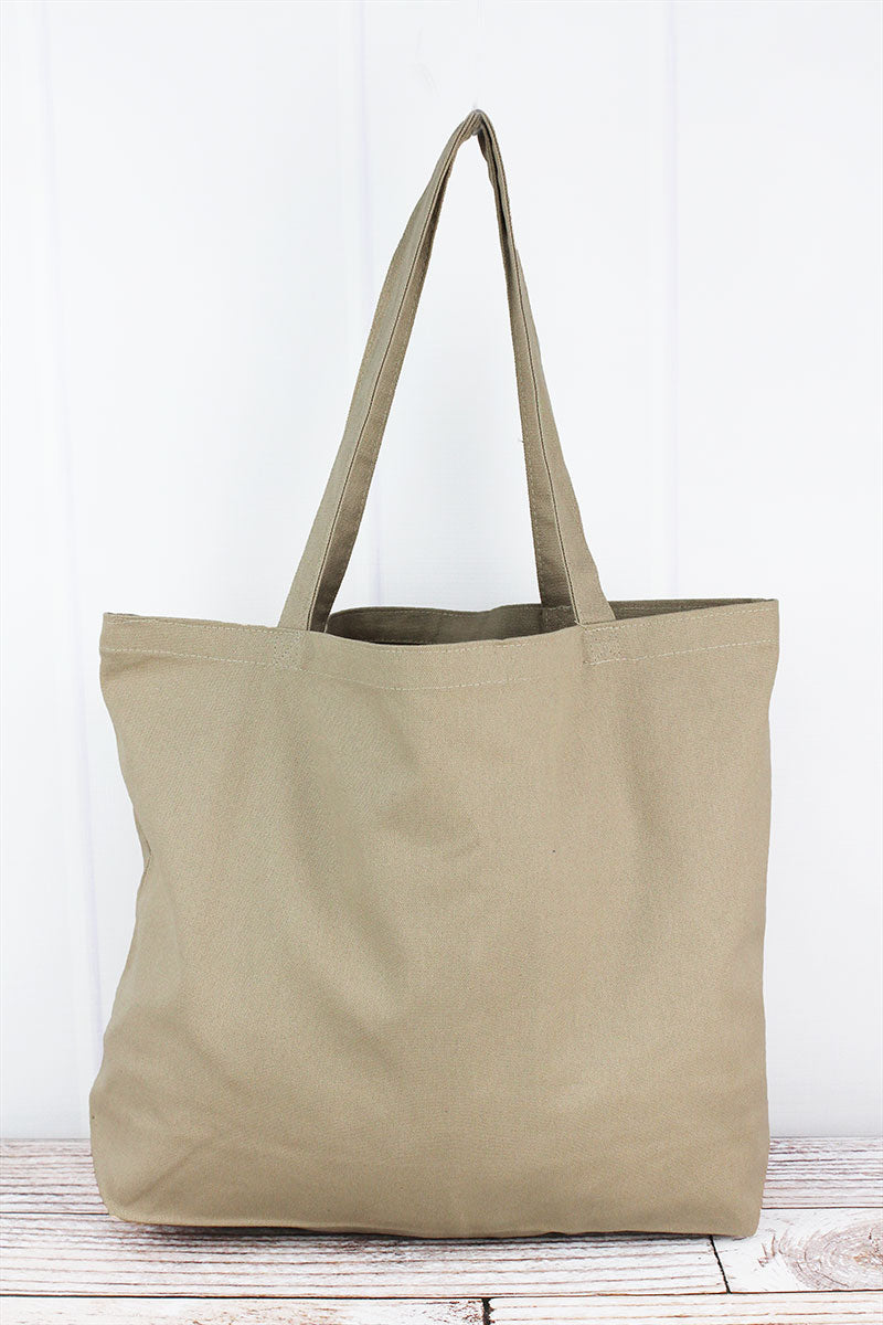 Liberty Bags Khaki Large Canvas Tote