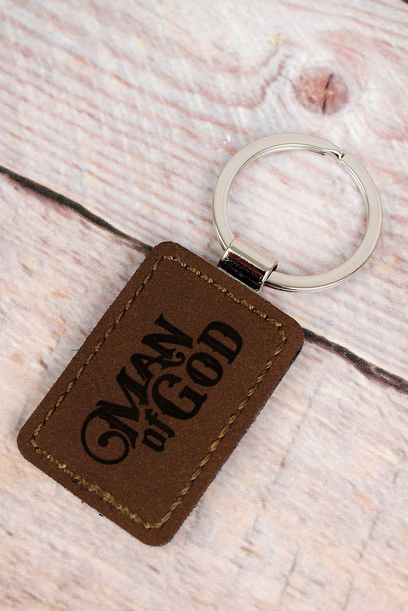 1 Timothy 6:11 'Man of God' Keyring in Gift Tin