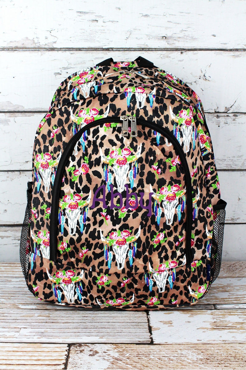 NGIL Free Spirit Steer Leopard Large Backpack