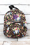 NGIL Free Spirit Steer Leopard Small Backpack