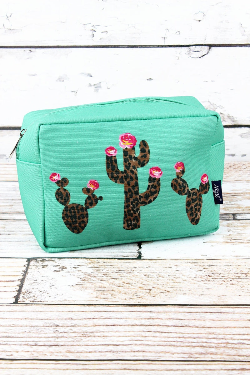 NGIL Leopard Cactus Mint Cosmetic Case