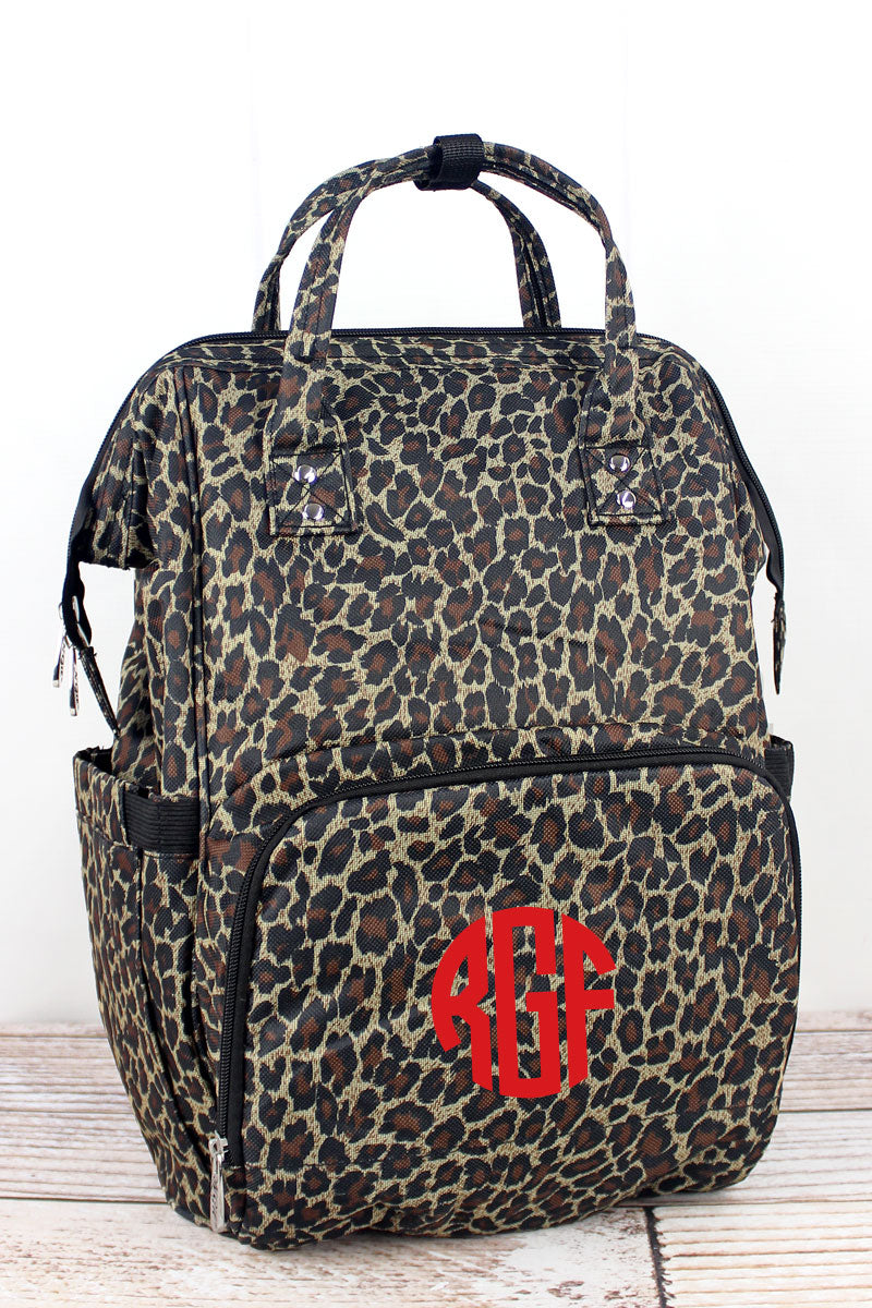NGIL Leopard Love Diaper Bag Backpack
