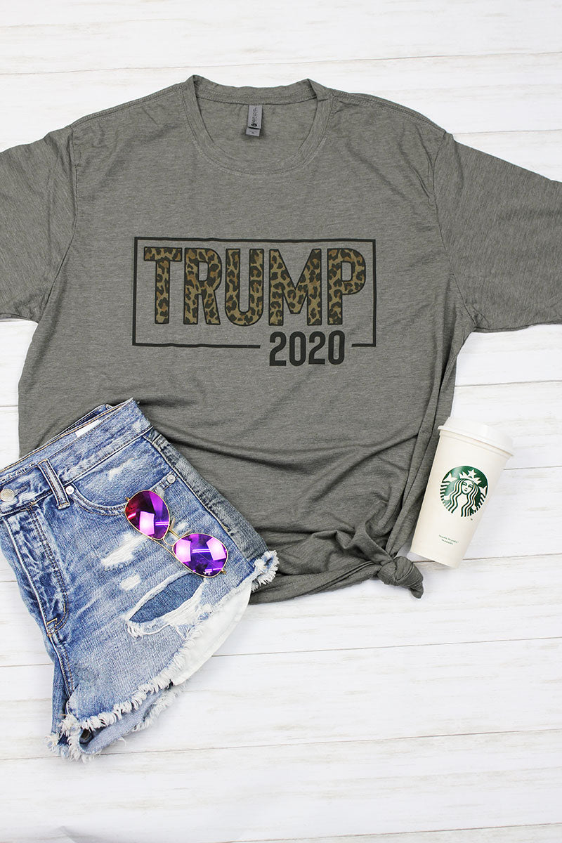 Trump 2020 Leopard Poly/Cotton Tee