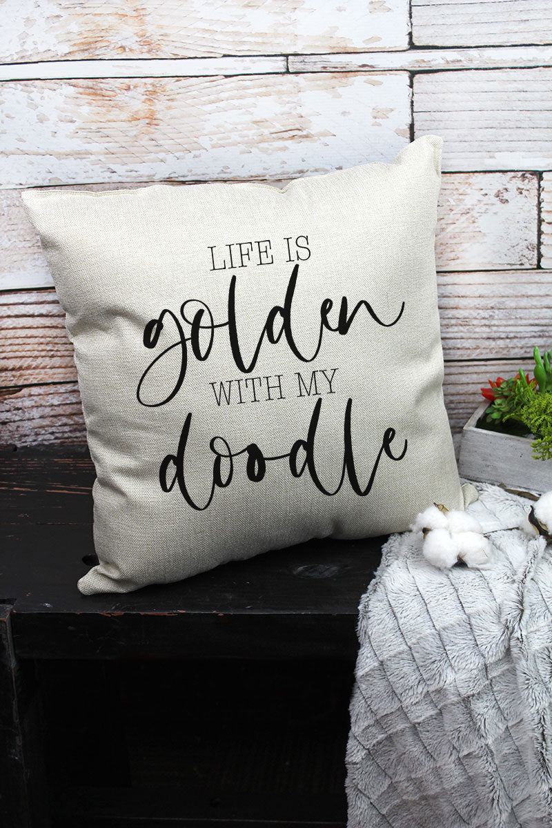 Life Is Golden Decorative Pillow Cover