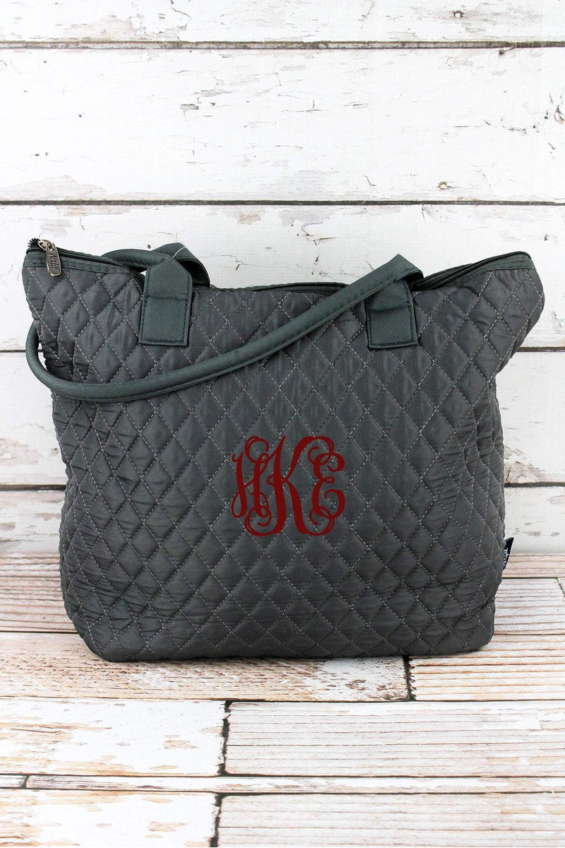 NGIL Gray Quilted Shoulder Bag