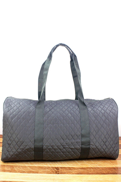 NGIL Gray Quilted Duffle Bag 21""