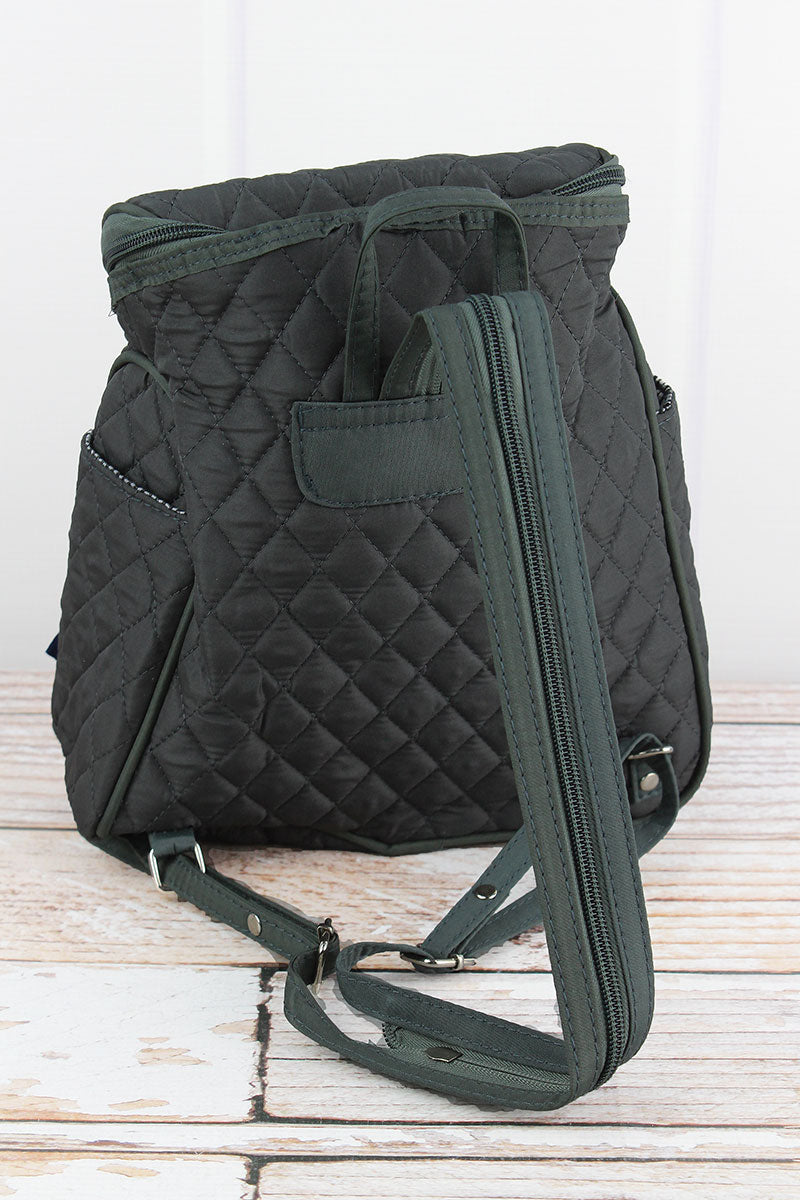 NGIL Gray Quilted Petite Backpack
