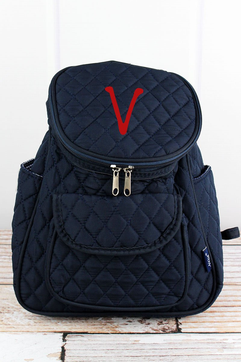NGIL Navy Quilted Petite Backpack