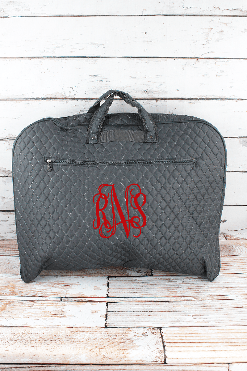 NGIL Gray Quilted Garment Bag