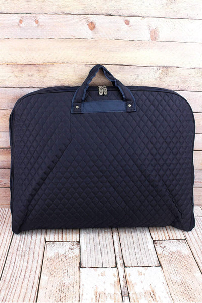 NGIL Navy Quilted Garment Bag
