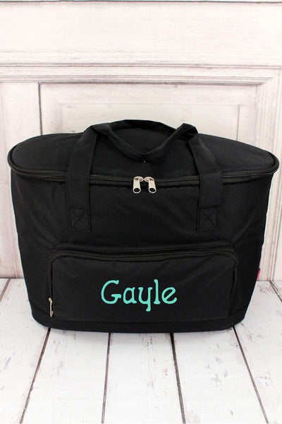 Black Cooler Tote with Lid #LM89-BLACK