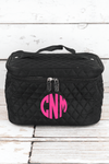 NGIL Black Quilted Train Case