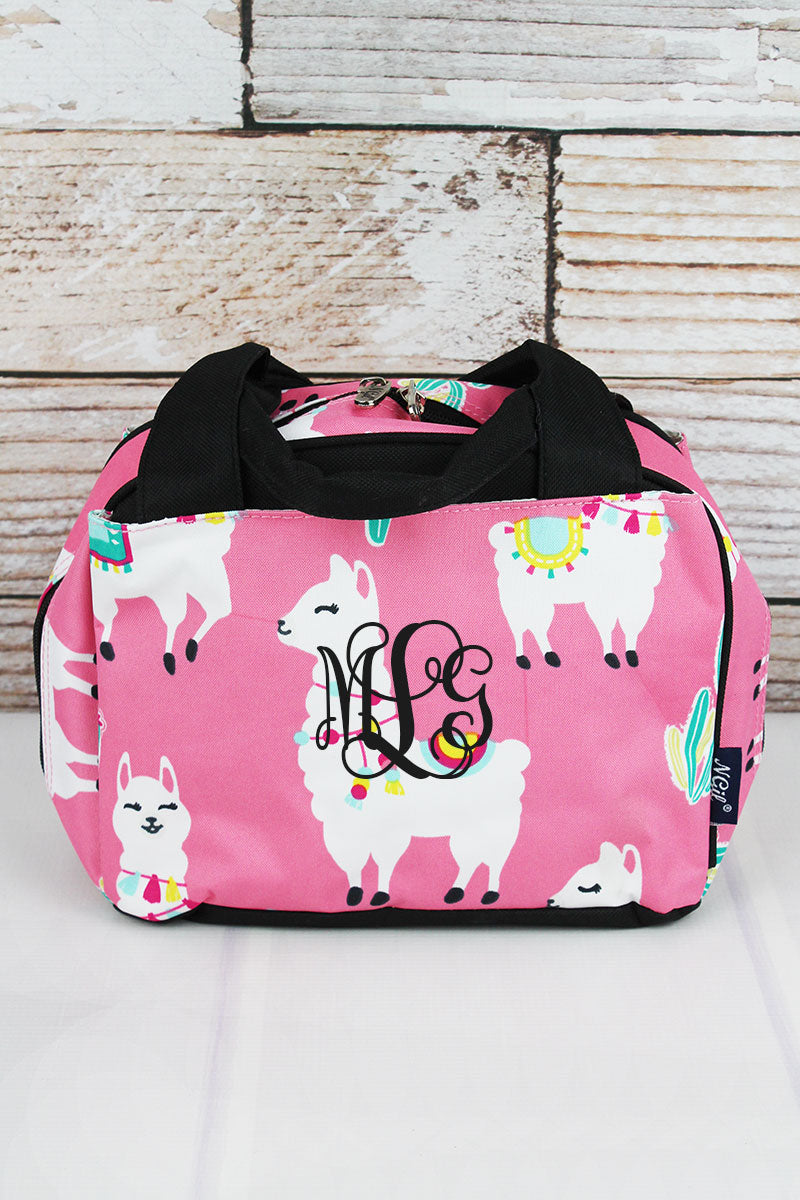 Llovely Llamas Insulated Bowler Style Lunch Bag