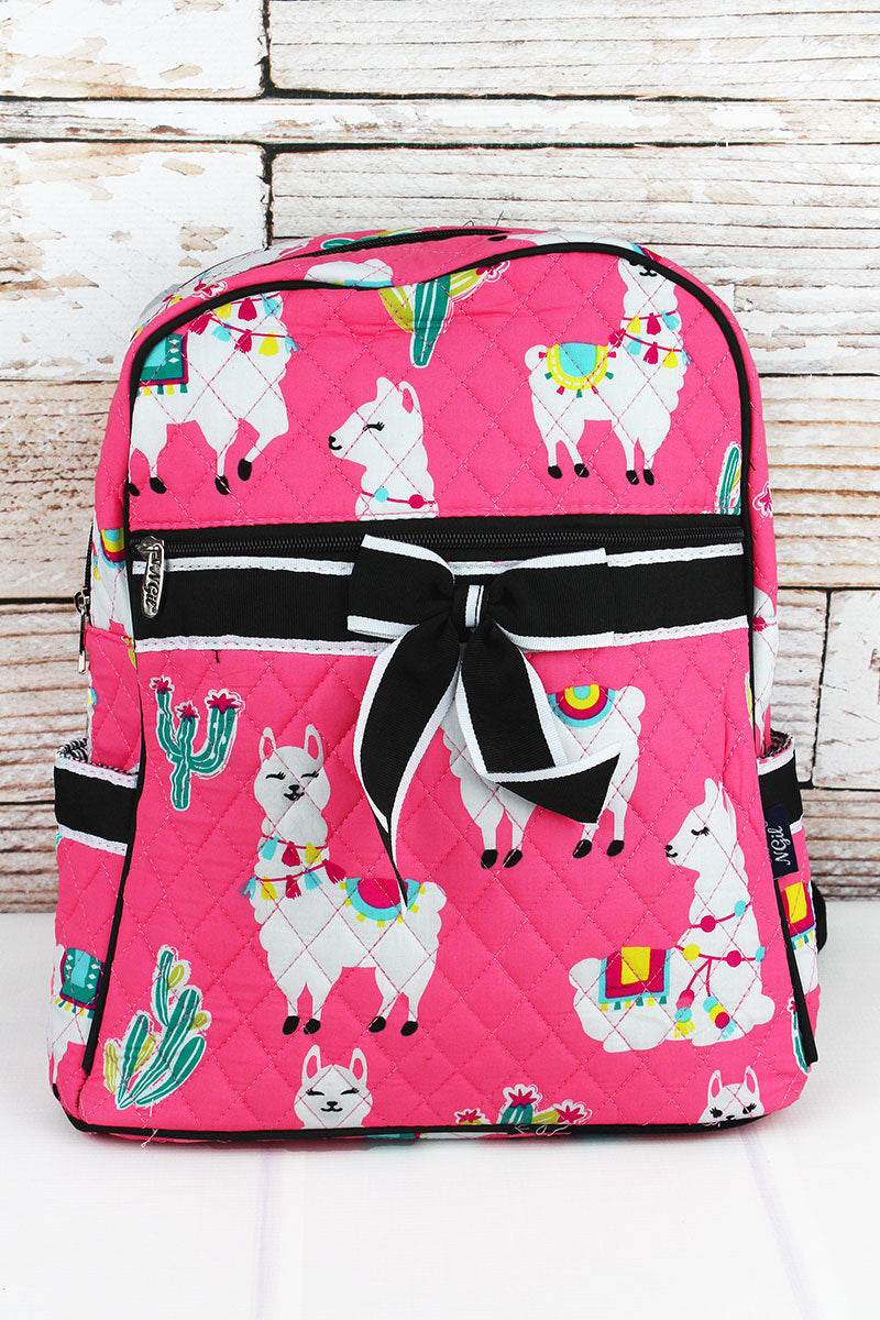 NGIL Llovely Llamas Quilted Backpack