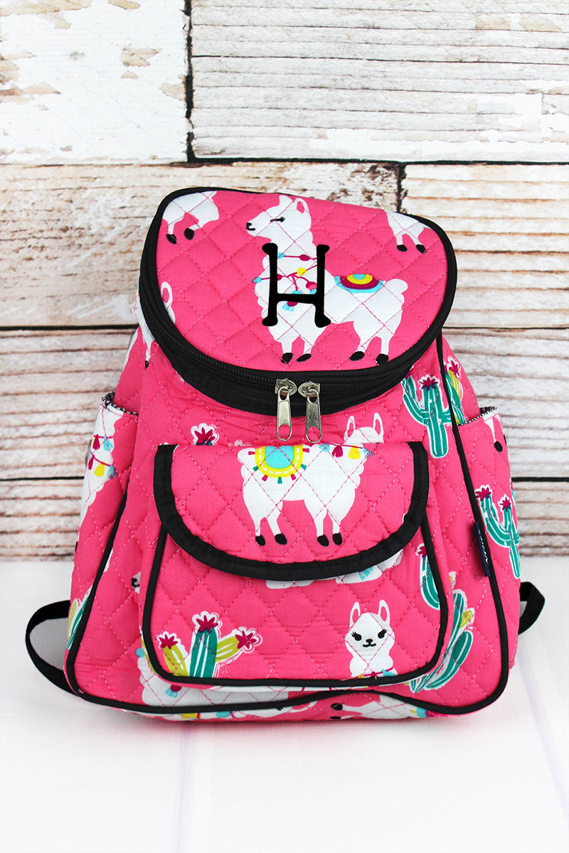 NGIL Llovely Llamas Quilted Petite Backpack
