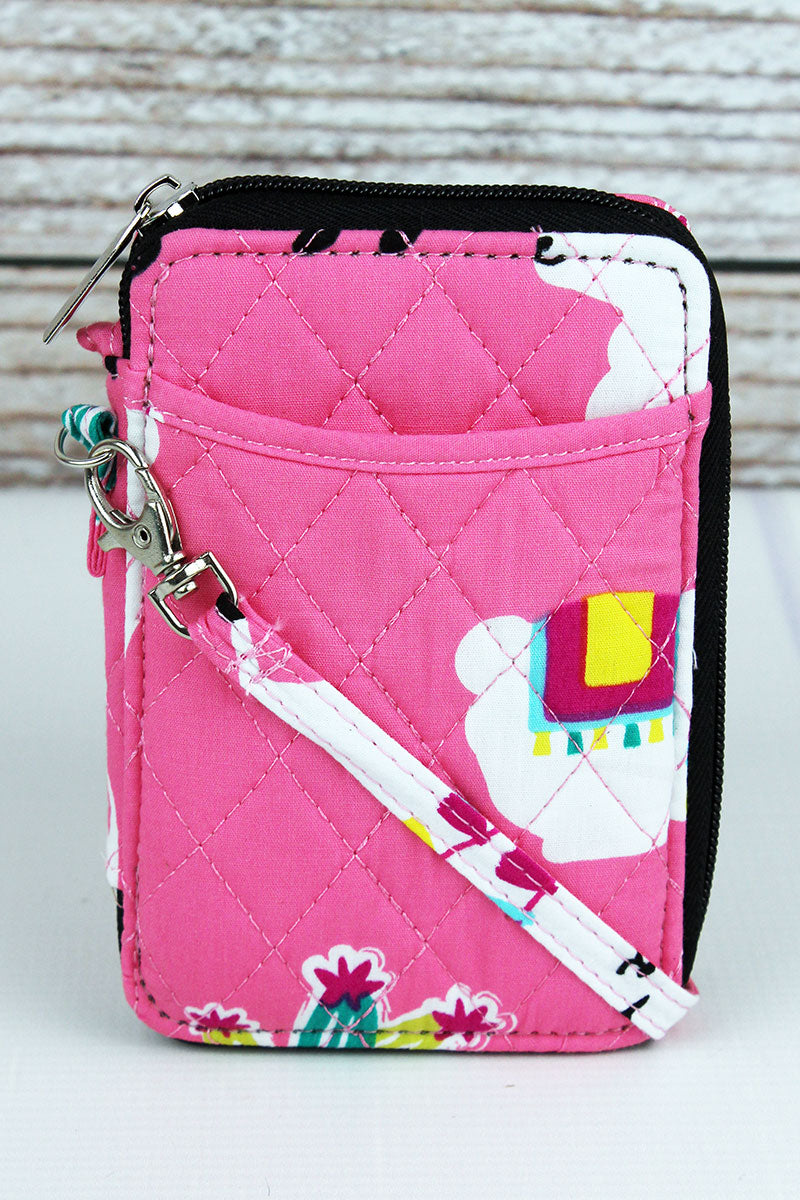 Llovely Llamas Quilted Wristlet