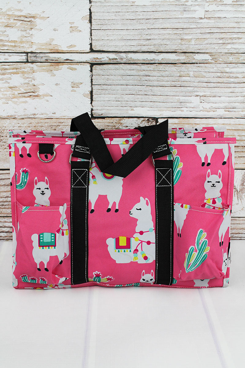 Llovely Llamas Utility Tote with Black Trim