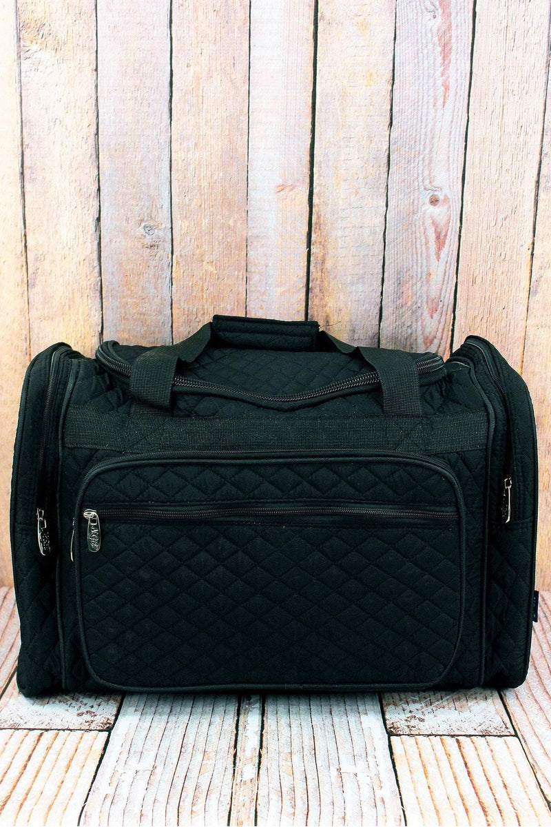 NGIL Black Quilted Duffle Bag 20""